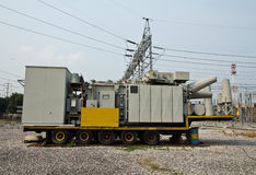 High voltage transformer mobile Royalty Free Stock Image