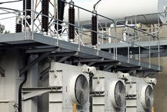 High voltage transformer Royalty Free Stock Images