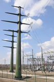 High voltage transformer station Royalty Free Stock Photography