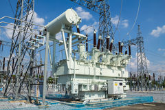High voltage transformer Royalty Free Stock Image
