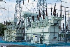 High voltage transformer Stock Photo