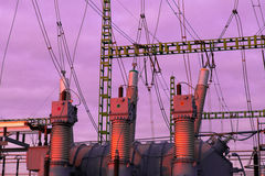 High voltage transformer Stock Photos