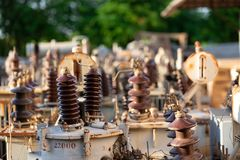 High Voltage Transformer With Electrical Insulation Stock Images