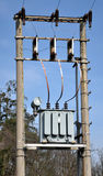 High voltage transformers Royalty Free Stock Photo