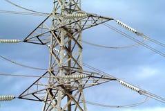 High voltage transmission line Stock Images