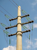 High-voltage transmission line Stock Images