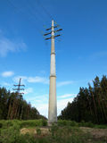 High-voltage transmission line Royalty Free Stock Photo