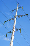 High-voltage transmission line tower royalty free stock image
