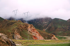 High voltage transmission line Royalty Free Stock Photo