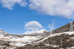 High voltage transmission line Stock Images