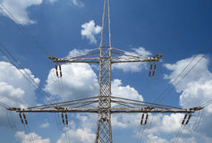 High voltage transmission lines Stock Image