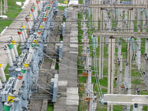 High voltage transmission power Stock Image