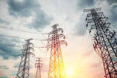 High voltage transmission pylon Stock Images