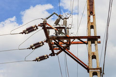 High voltage transmission tower Royalty Free Stock Photo
