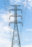 High voltage transmission tower Stock Images
