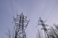 High Voltage Transmission Tower. 2 Generic high voltage transmission tower, no people stock image
