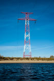 High voltage transmission tower and lines. Energetics concept royalty free stock photos