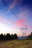 High voltage transmission tower Stock Photos