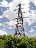 High voltage transmission tower. High voltage powerline transmission tower (power supply royalty free stock photos