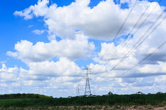 High Voltage Transmission Tower. Stock Photo