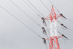 High voltage transmission towers stock images