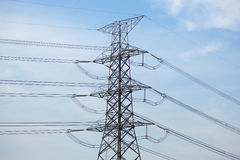 High voltage transmission towers Stock Image
