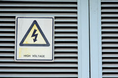 High voltage warning Stock Photo