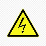 Warning sign Vector illustration. High voltage Warning sign. Hazard symbols Stock Images