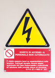 High voltage warning sign Royalty Free Stock Images
