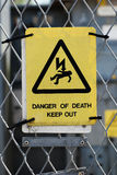 High voltage warning sign Royalty Free Stock Image