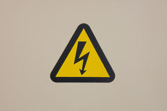 High voltage warning sign Royalty Free Stock Photo