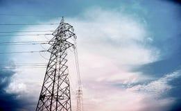 High-voltage wire Stock Photo