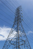 High-voltage Wire Tower. The High-voltage electric wire tower Royalty Free Stock Images