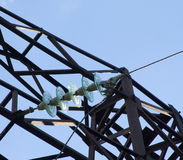 High-voltage wires Stock Photography