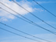 High voltage wires Royalty Free Stock Images