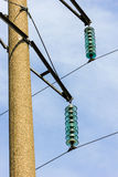 High voltage wires power transmission lines Stock Photo