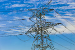 High voltage wires. Royalty Free Stock Image
