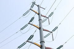 High voltage wires Stock Images