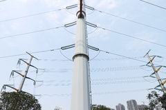 High voltage wires Stock Photo