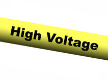 High Voltage Yellow Barrier Tape. A High Voltage Yellow Barrier Tape Stock Image