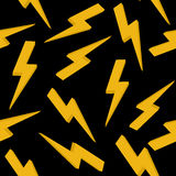 High voltage yellow sign. Seamless pattern Stock Photos