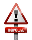High volume warning road sign illustration Royalty Free Stock Images