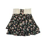Floral pattern skirt isolated on white background Royalty Free Stock Photo