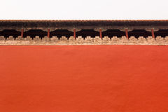 High wall around Forbidden City, Beijing, China Royalty Free Stock Photos