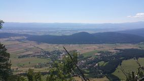 High Wall Lower Austria Panorama Royalty Free Stock Photo