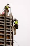 High Wall Workers Royalty Free Stock Image