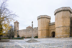 High walls of Poblet Monastery Royalty Free Stock Photography