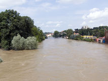 High Water. That is the flooding at August 2010 in Görlitz Stock Photography