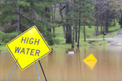 High water royalty free stock images
