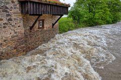 High water and flood Royalty Free Stock Photography